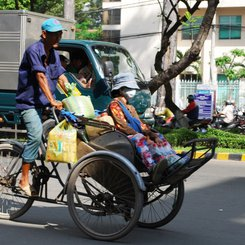 Cyclo in Ho Chi Minh City